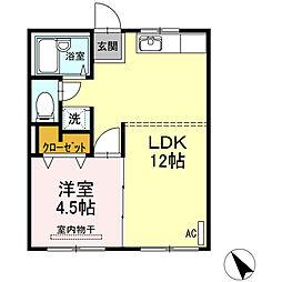 宗正アパート[1階]の間取り