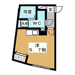 都営浅草線 戸越駅 徒歩5分の賃貸マンション 1階ワンルームの間取り