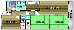 ライオンズマンション千代田壱番館[14階]の間取り