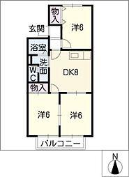 サンハイムA棟[2階]の間取り