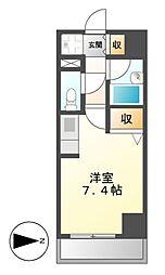スペーシア堀田[9階]の間取り