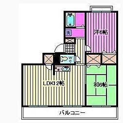 横田ハイツ[2階]の間取り