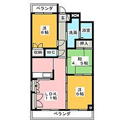 ヴィラ富士[2階]の間取り