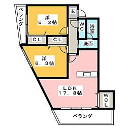 サンクチュアリ小幡[3階]の間取り