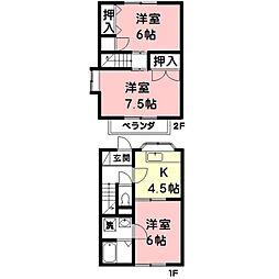 メゾン松栄[1階]の間取り