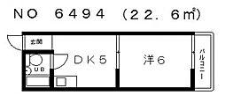ニューライフ赤坂[2階]の間取り