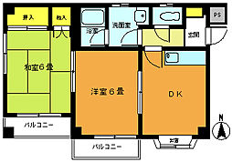ミヤタハイツ[3階]の間取り
