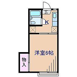 神奈川県横浜市港北区菊名3丁目の賃貸アパートの間取り