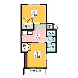 アカネマンション加納[3階]の間取り