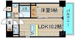 ラフィネ北花田[5階]の間取り