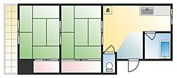 ウエストマンション魚住[4階]の間取り