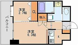 ネストピア博多駅前[4階]の間取り