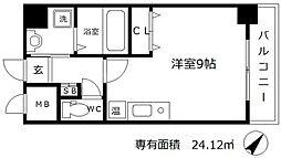 アクアプレイス梅田[10階]の間取り