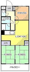 東京都東久留米市前沢1丁目の賃貸マンションの間取り