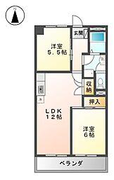 ベルニシキ S棟[4階]の間取り