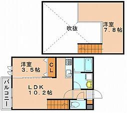 クレオ博多南弐番館[1階]の間取り