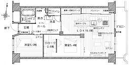 大阪府大阪市中央区谷町9丁目の賃貸マンションの間取り