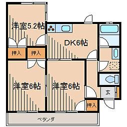 CLLエクセレンス相模台2[3階]の間取り