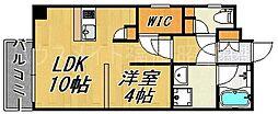 サンセーヌ舞鶴[4階]の間取り