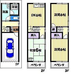 [一戸建] 大阪府大東市緑が丘1丁目 の賃貸【/】の間取り