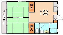 福岡県飯塚市伊岐須の賃貸マンションの間取り
