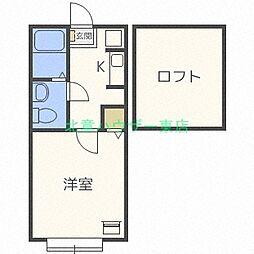 北海道札幌市東区北四十二条東2丁目の賃貸アパートの間取り