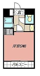 オリエンタル南小倉[402号室]の間取り
