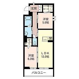 ラモント[3階]の間取り