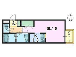 阪奈コーポ[101号室]の間取り