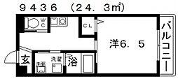 ヒルハイツ高鷲[105号室号室]の間取り