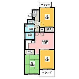 レジデンス高社[2階]の間取り