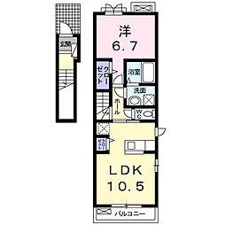 サンフェリスタV[2階]の間取り