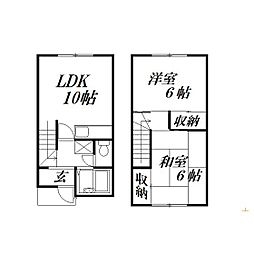 [テラスハウス] 静岡県浜松市西区西鴨江町 の賃貸【/】の間取り