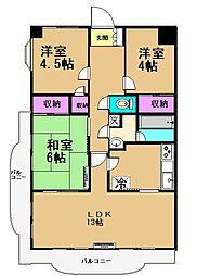ペアステージ東館[2階]の間取り