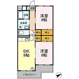 グランドゥール21[1階]の間取り
