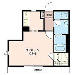 Garden Court IZUMI[1階]の間取り