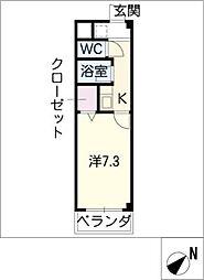 愛教マンション安井[3階]の間取り