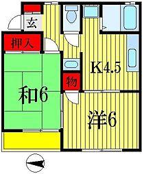 メゾンスリーゼN-1[1階]の間取り