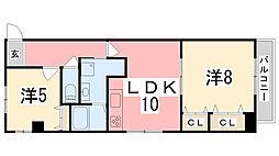 ハイツASAHI[201号室]の間取り