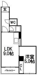 サウス1014[5階]の間取り