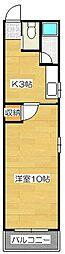 エクセレント筑紫野[2階]の間取り