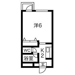 ヴァンヴェール南4条[2階]の間取り