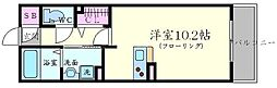 ORCHID POINT 3階ワンルームの間取り