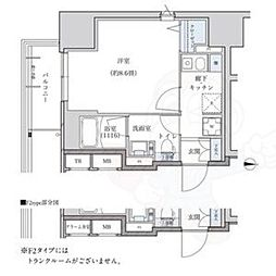 名古屋市営東山線 新栄町駅 徒歩9分の賃貸マンション 9階1Kの間取り