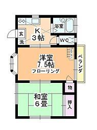 サンシティ上福岡[102号室]の間取り