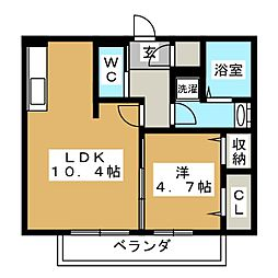 仮)D-room大垣市宿地町[3階]の間取り