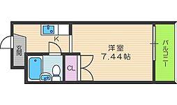 シャルム北梅田[2階]の間取り