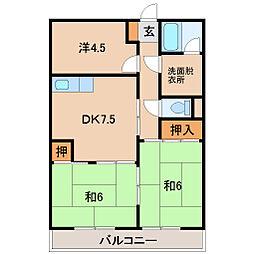 第2藤村マンション[1階]の間取り