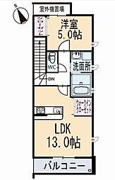 新築上里3丁目A様賃貸集合住宅 2階[201号室]の間取り