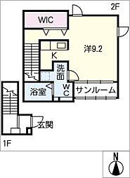 ファシェーネ[2階]の間取り